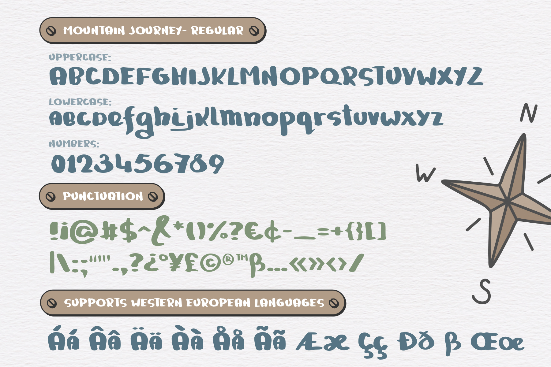 Mountain Journey - a Fun Font Duo example image 2