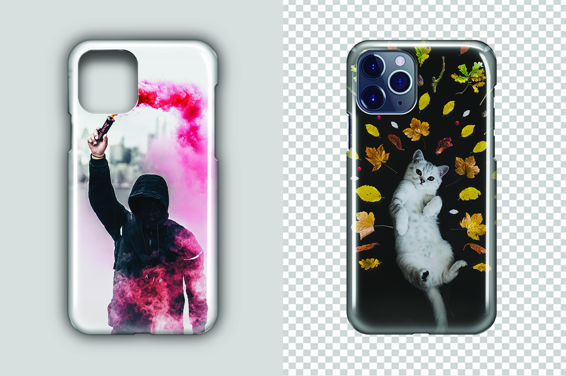 Apple iPhone 11 Pro 3d IMD Phone Case Mockup Back View example image 3