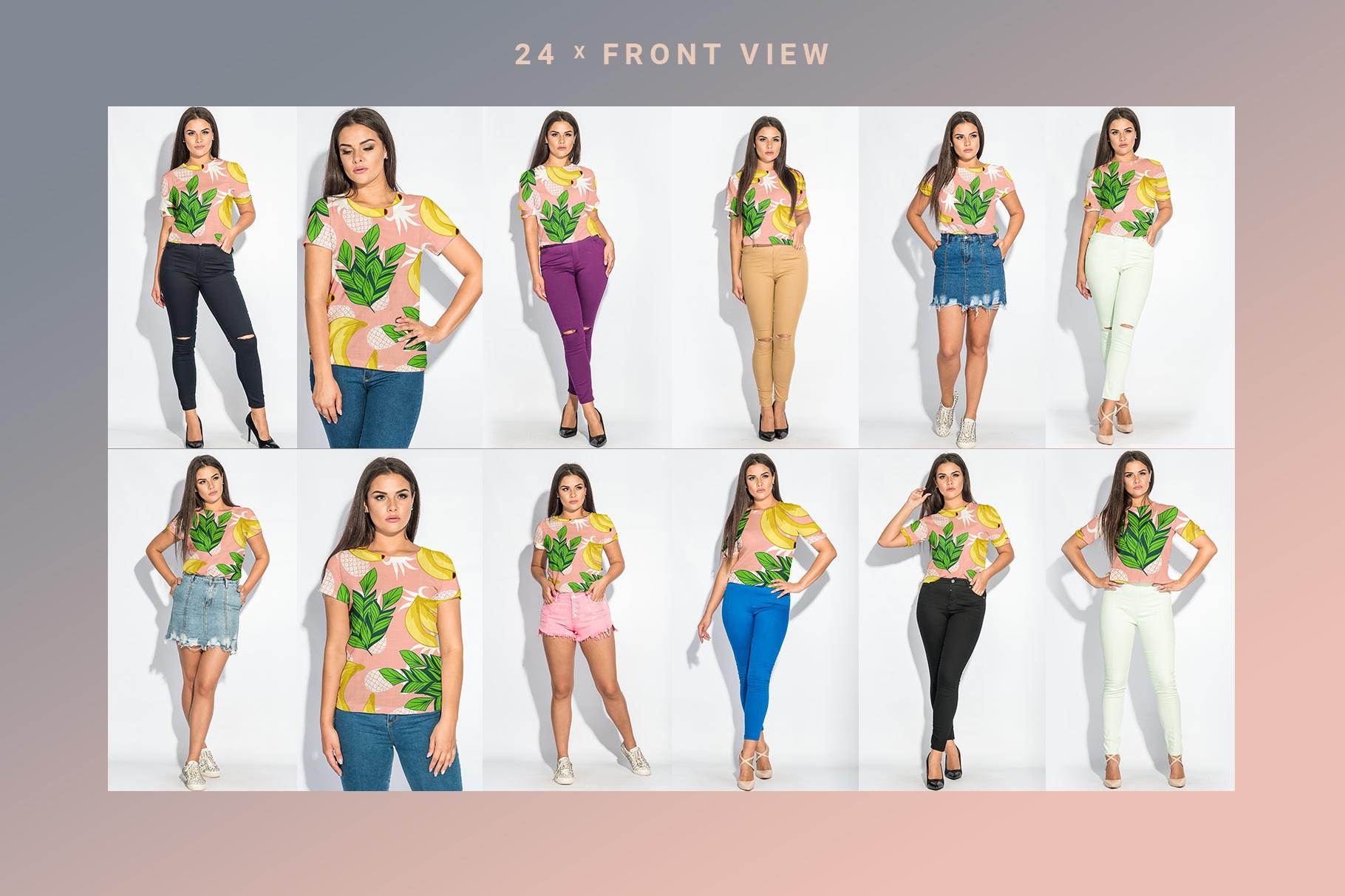Plus Size T-shirt Mockup Bundle example image 9