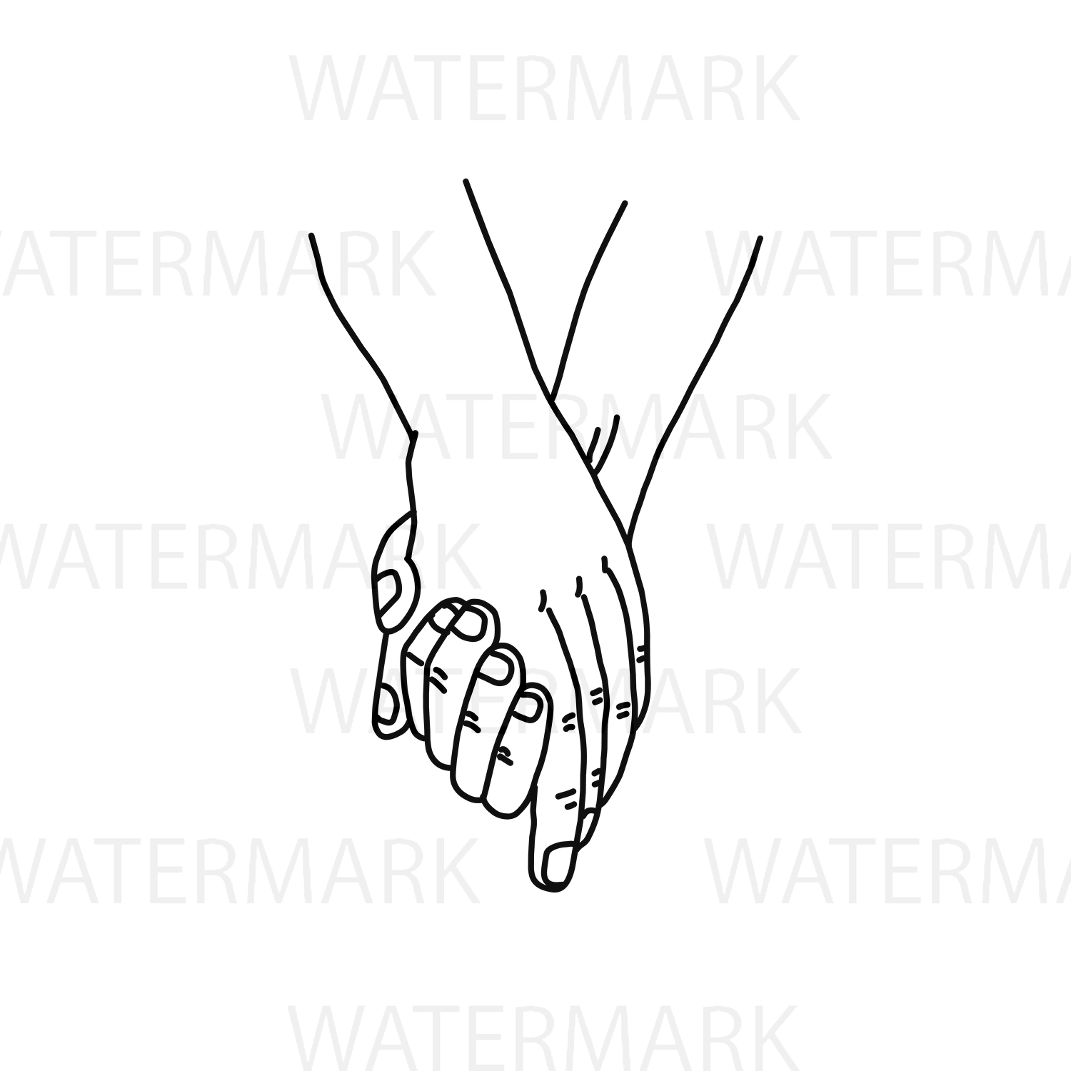 Holding Hand with love - SVG/JPG/PNG Hand Drawing example image 2