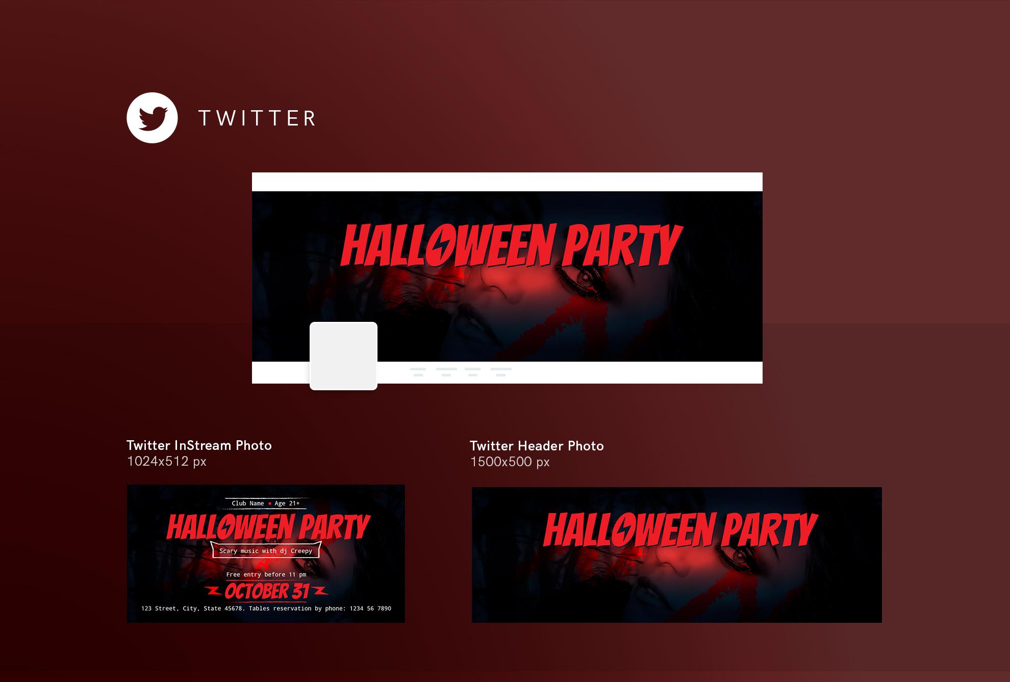 Halloween Party Design Templates Bundle example image 10