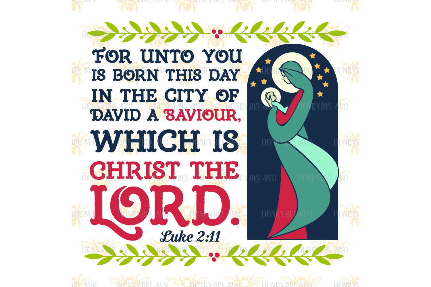 For Unto Us Is Born This Day svg example image 2