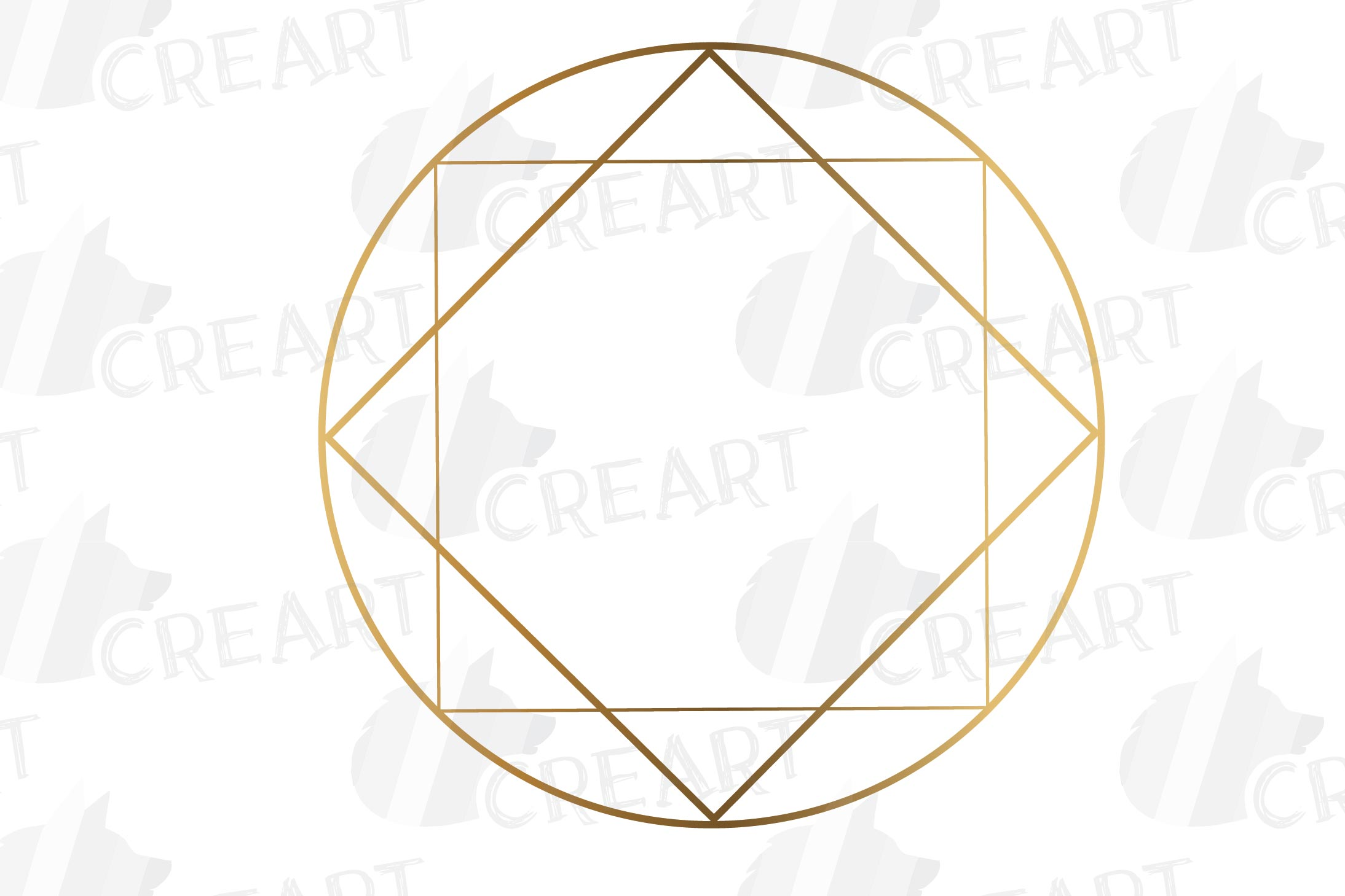 Elegant wedding geometric golden frames, lineal frames svg example image 15