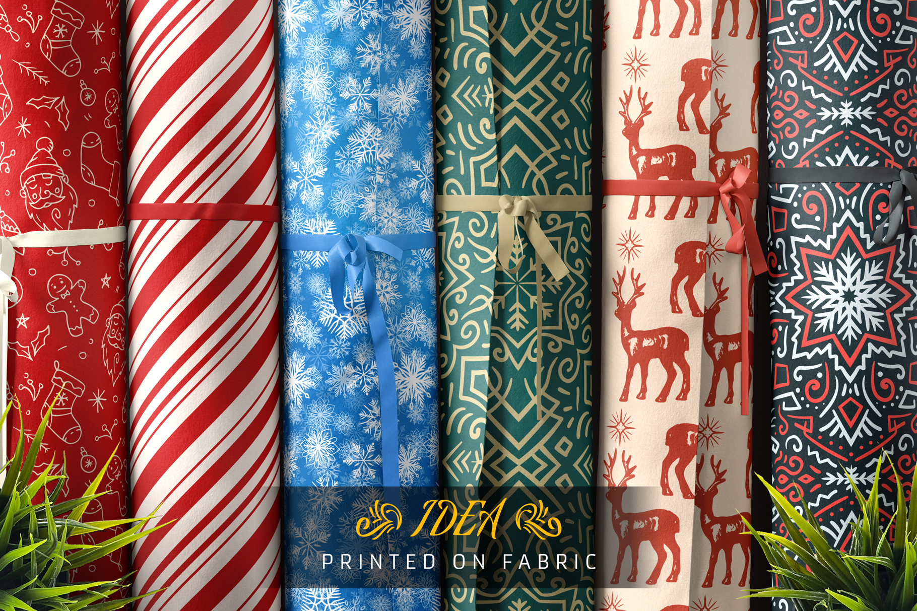 100 Seamless Patterns Vol.4 Christmas example image 3
