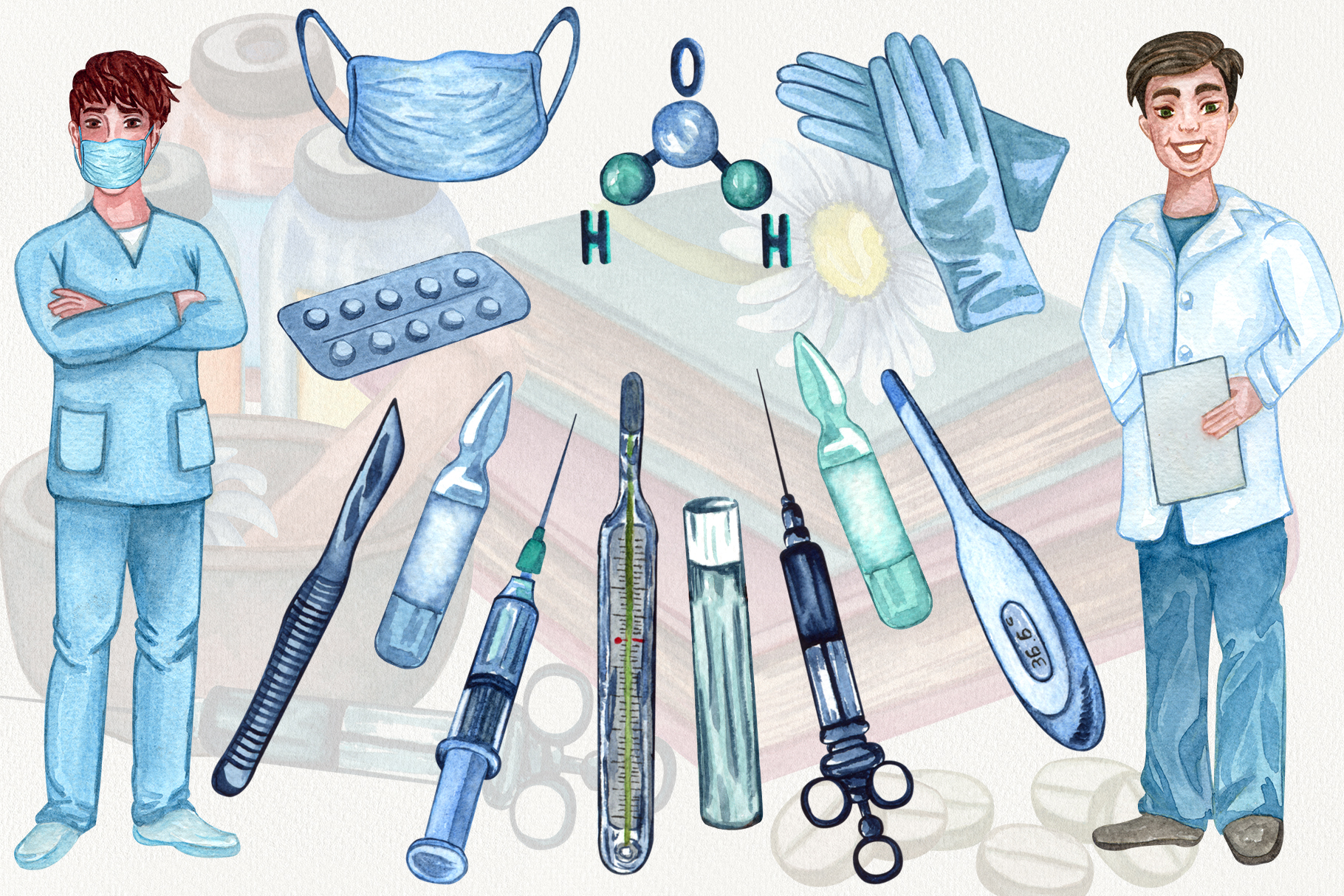Pharmacy and Medical set example image 6