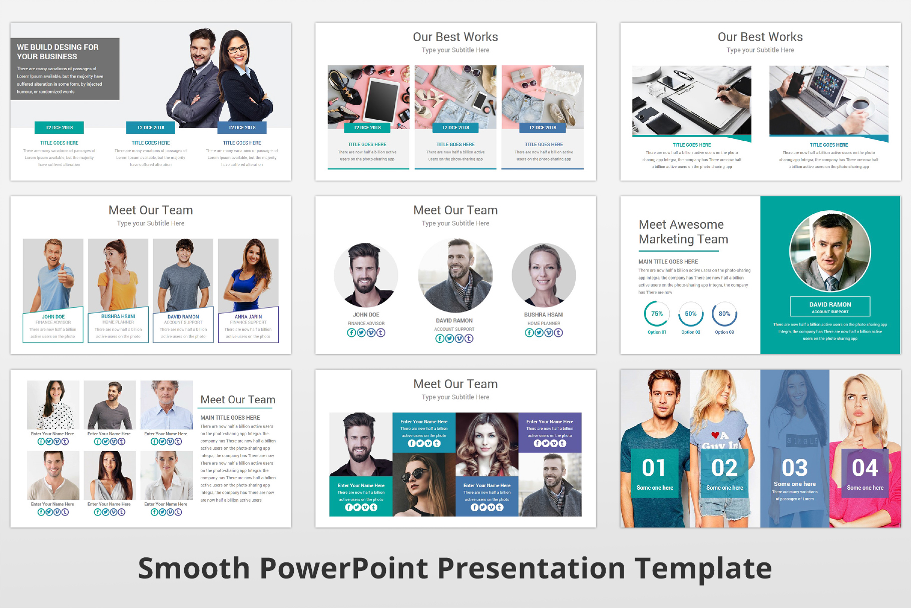 Smooth multipurpose PowerPoint Presentation Template example image 9