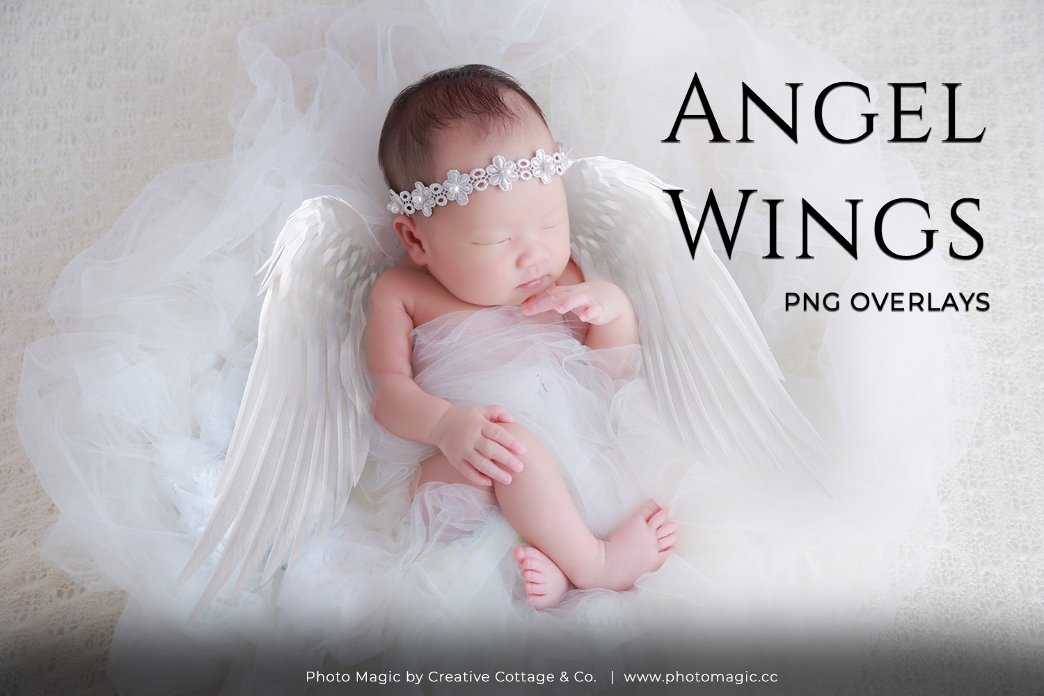Fantasy Angel Wings Photo Overlays example image 1