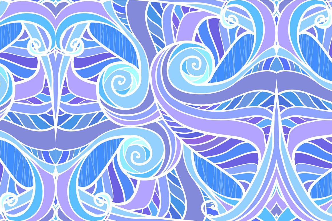 12 ornate wavy seamless patterns example image 2