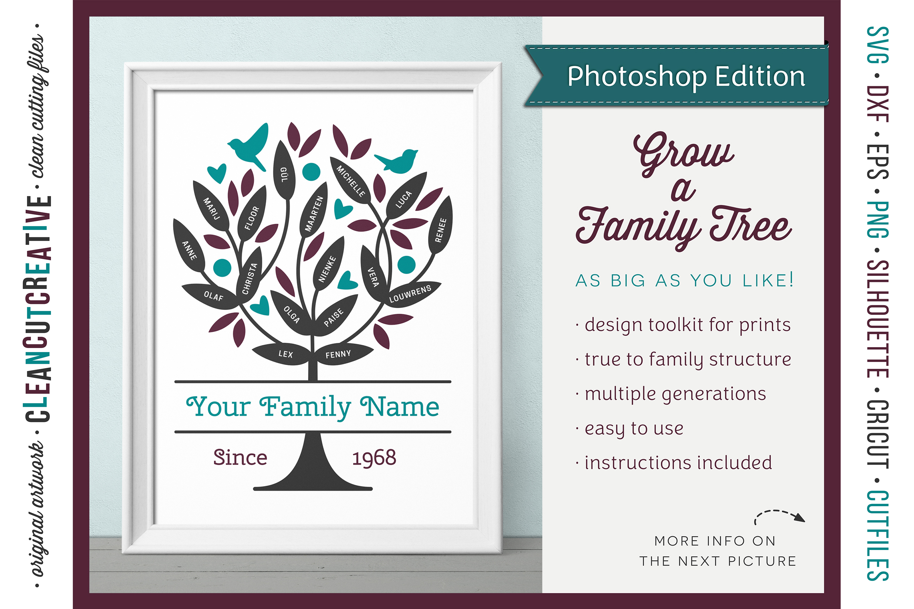 Grow a FAMILY TREE - Photoshop Edition - clipart design set example image 1