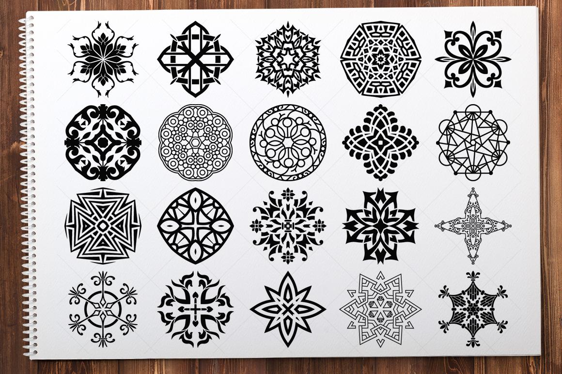 500 Vector Mandala Ornaments example image 6