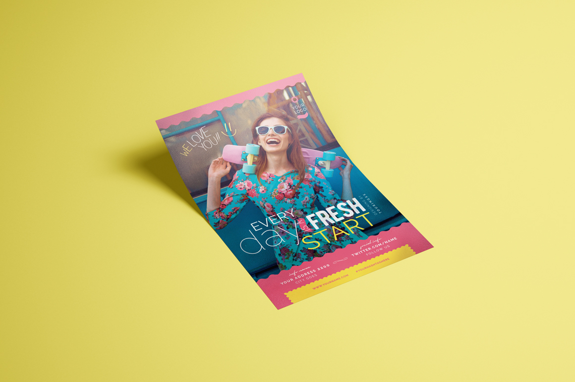 Every Day Is A Fresh Start Flyer Template example image 3