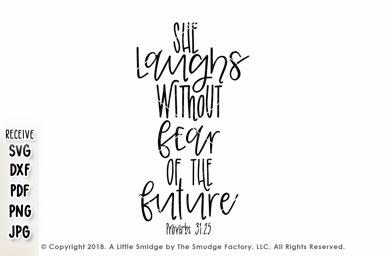 She Laughs Without Fear Of The Future SVG example image 3