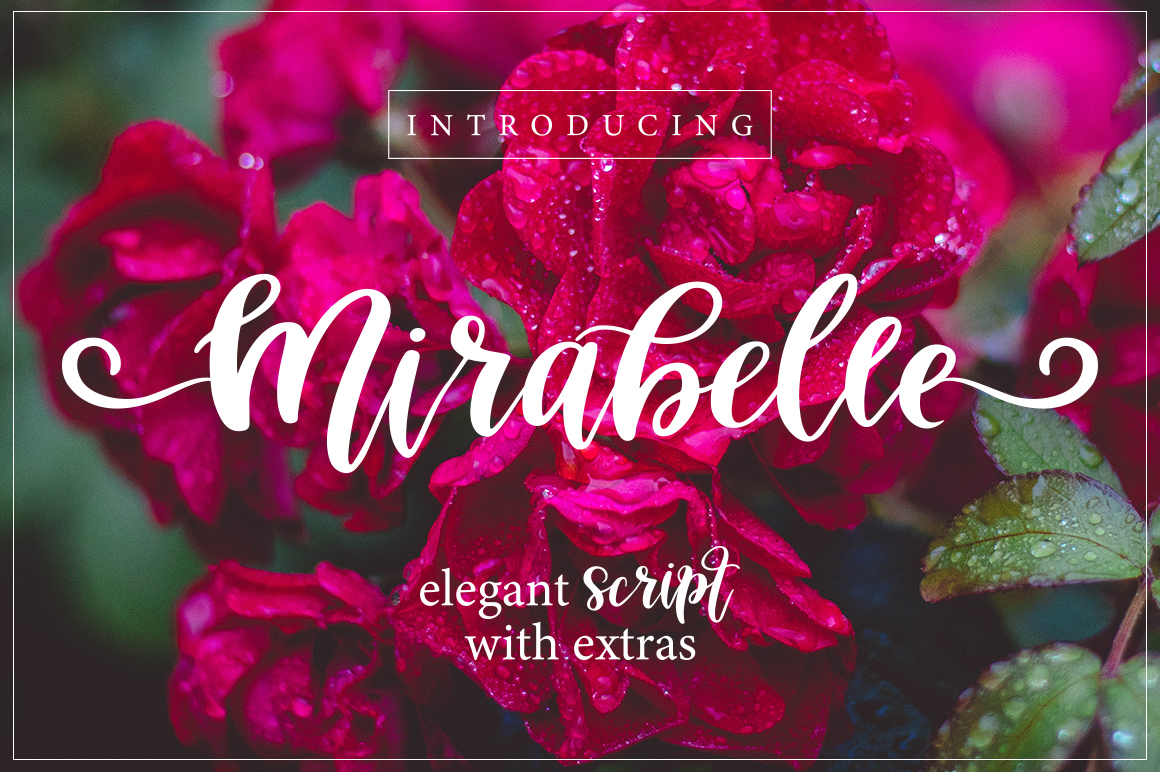 Mirabelle Font with Extras example image 1