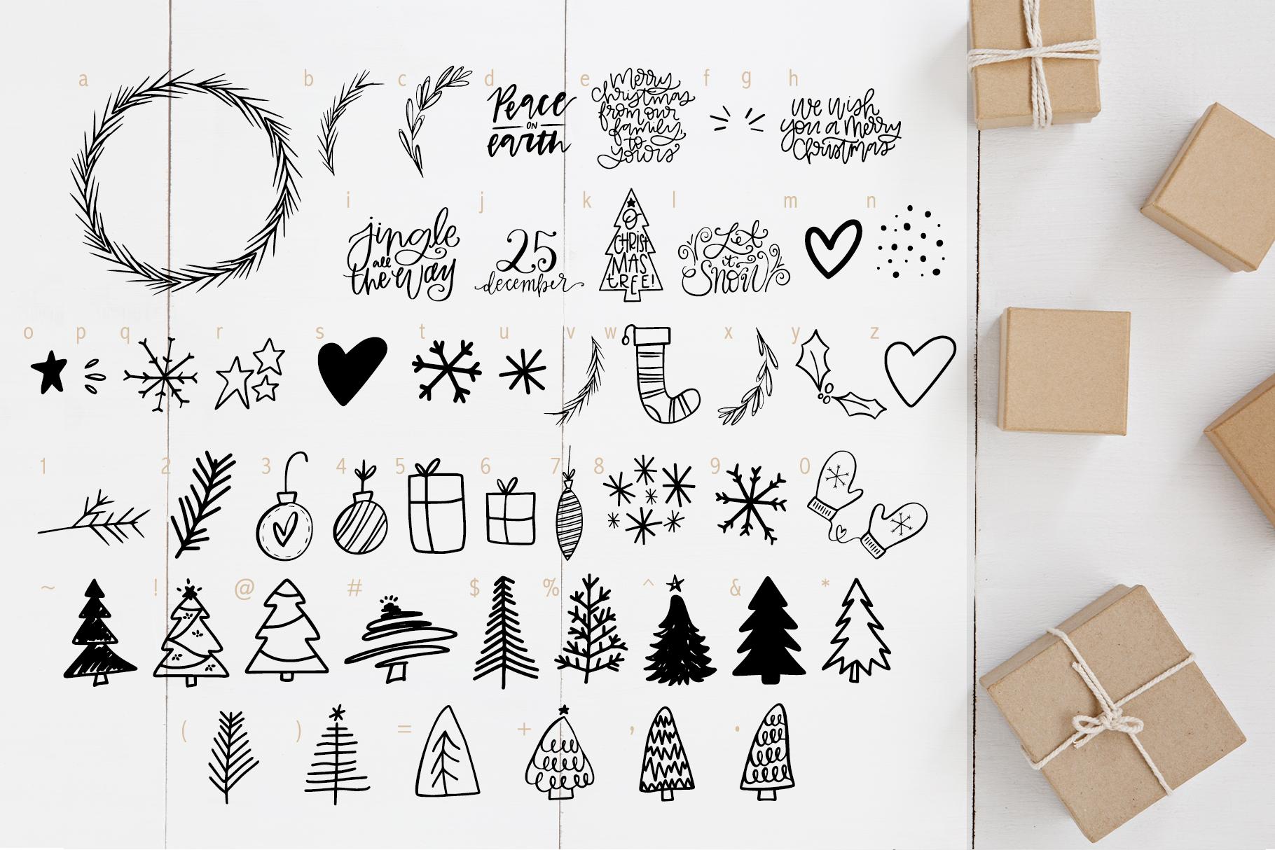 Christmas Symbols Font - Volume 2 example image 6
