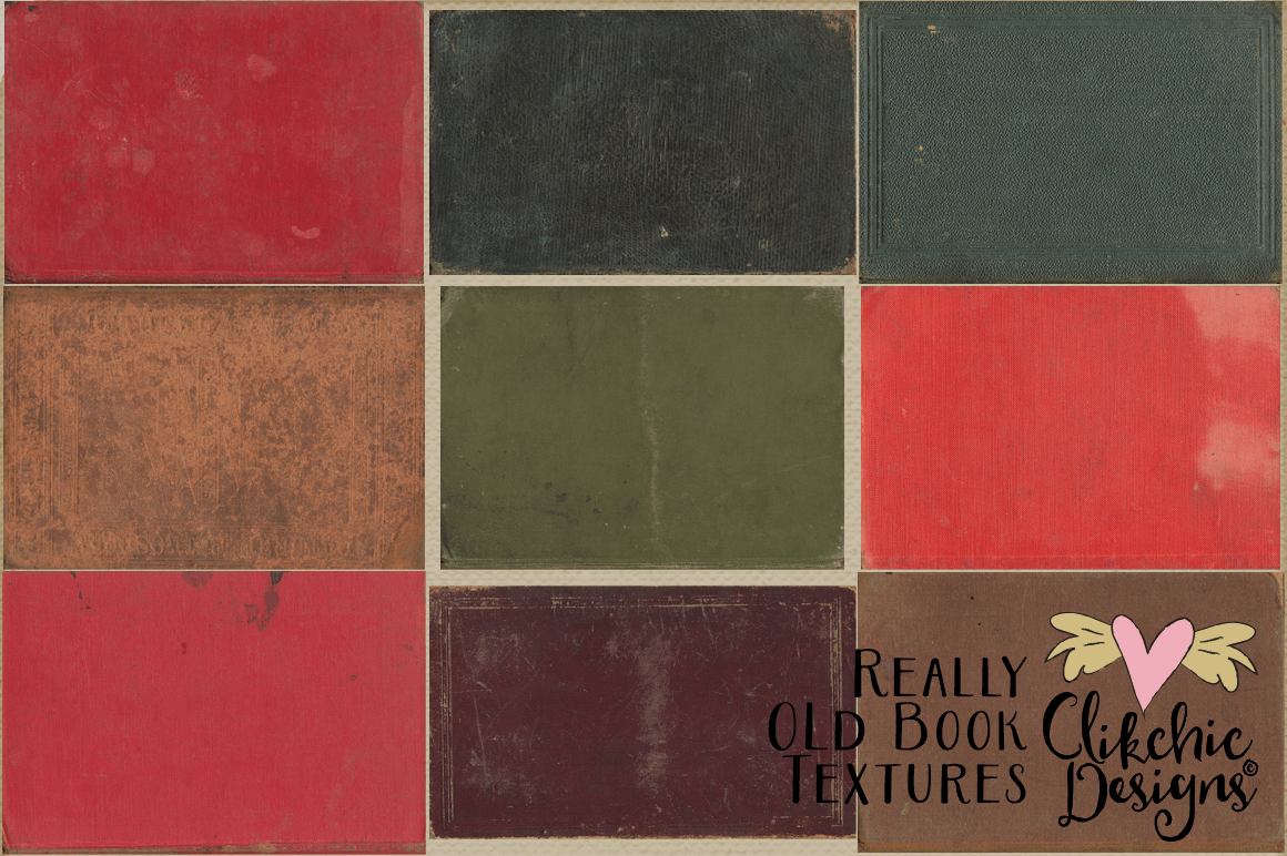 Grunge Book Textures - Really Old Book Textures example image 3