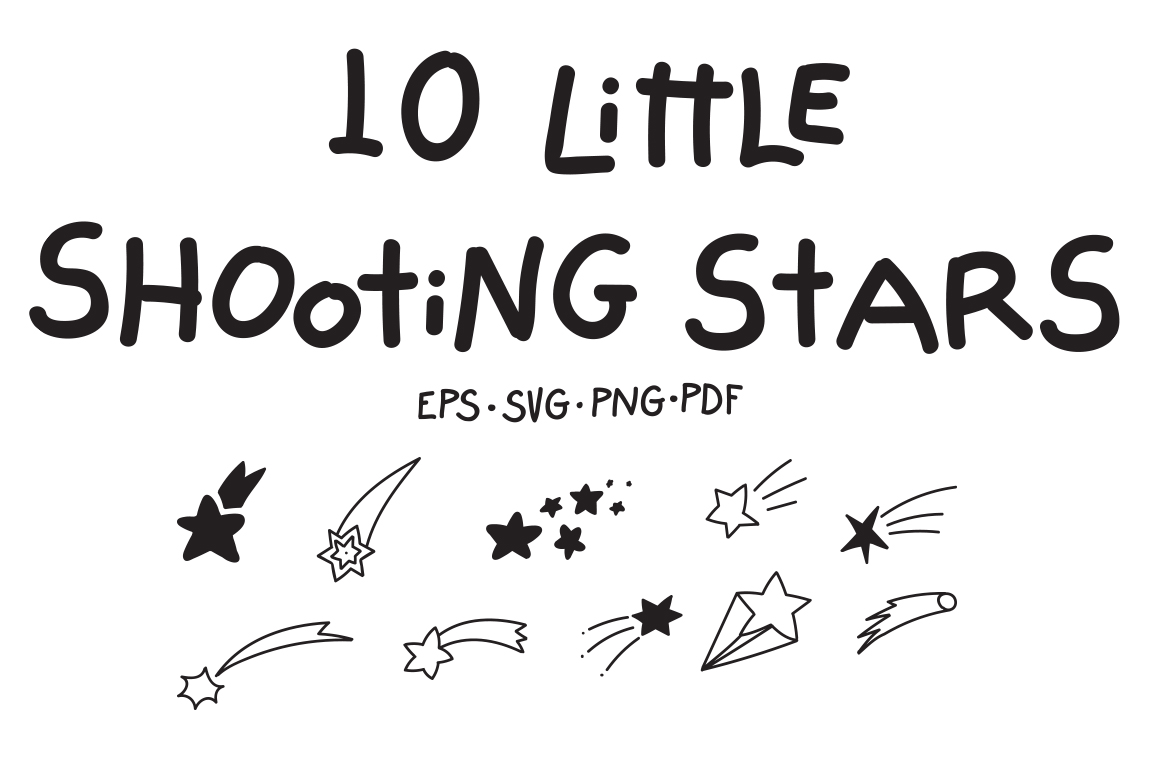 10 Little Shooting Stars example image 1