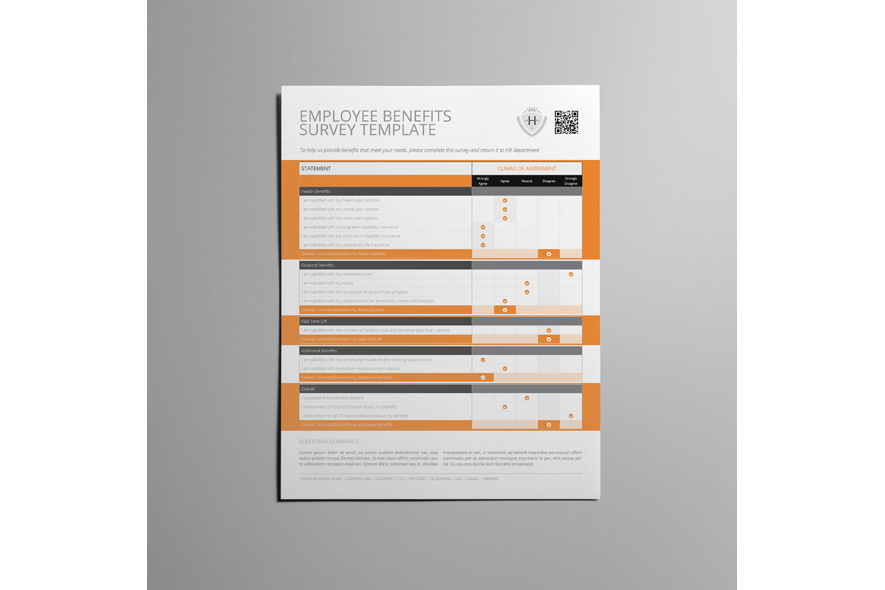 Employee Benefits Survey Form US Letter Template example image 4