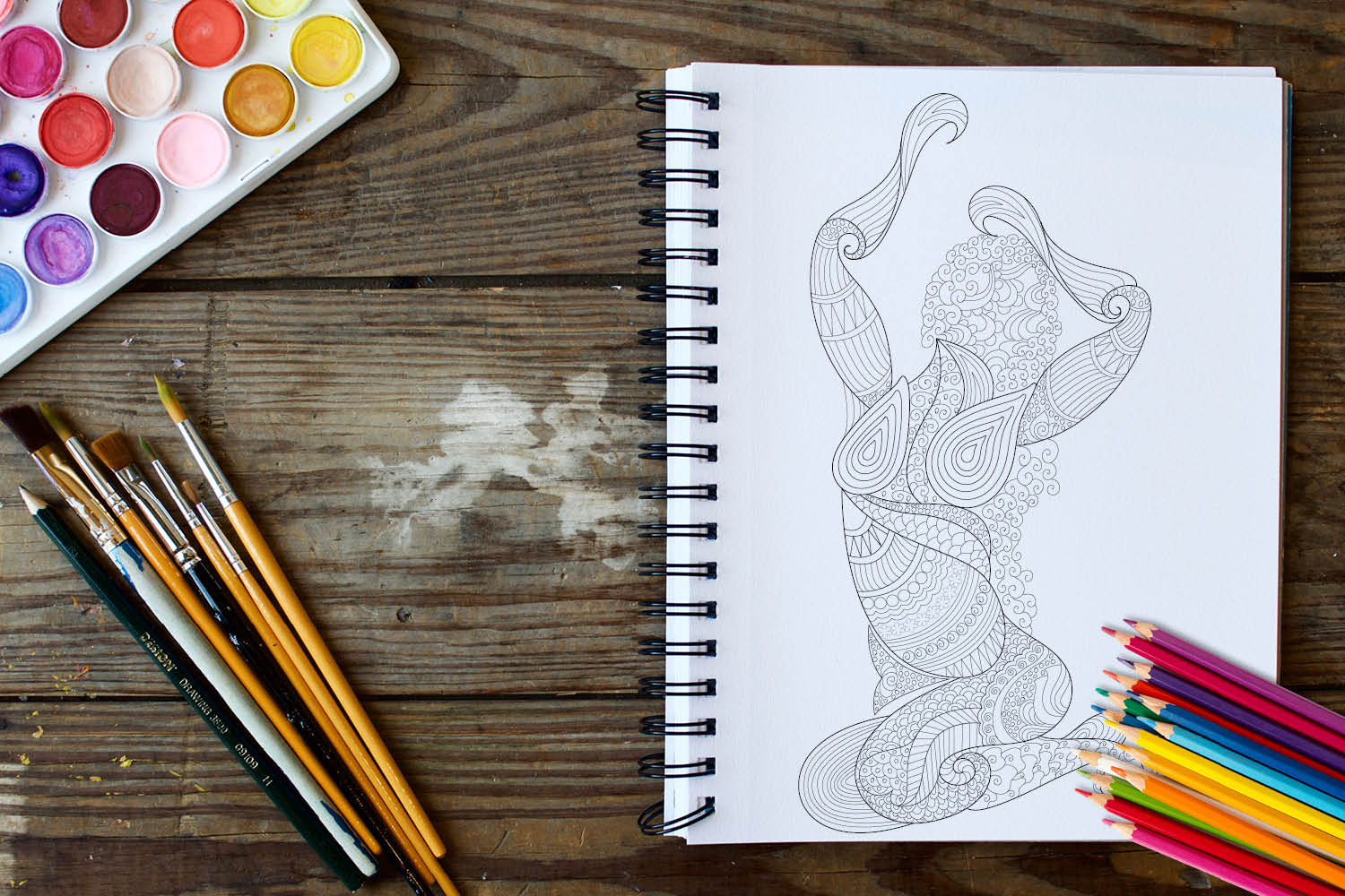 Women Poses Coloring Book - 30 Unique Illustrations example image 2