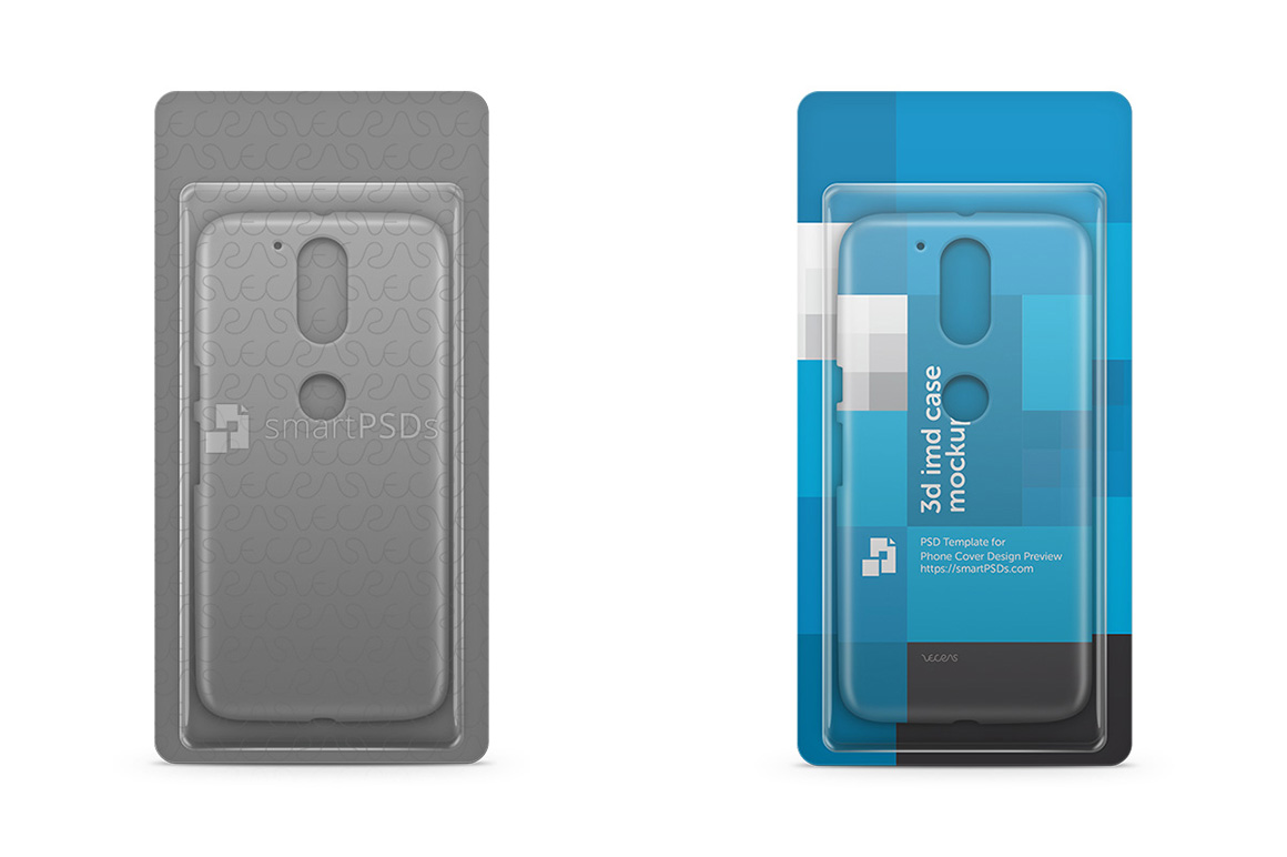 Clamshell Blister Pack Mockup with Phone Case example image 1