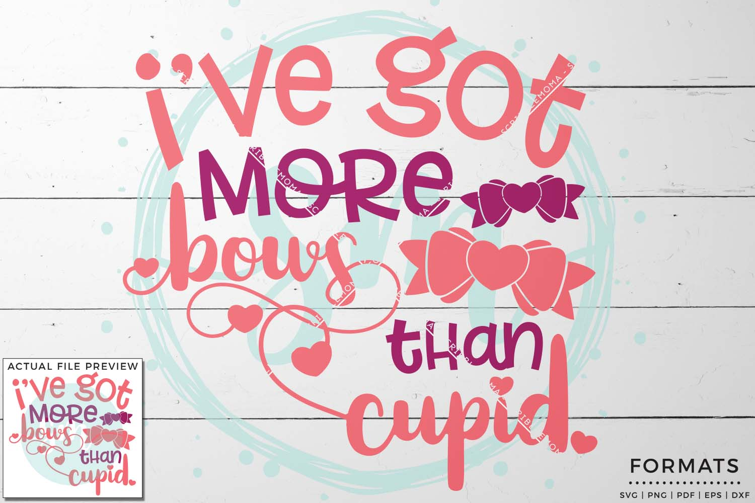 More Bows Than Cupid Valentine SVG example image 1