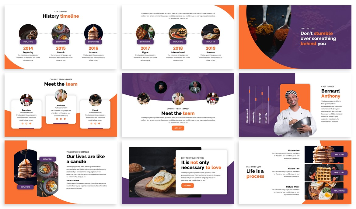 Foodey - Culinary Powerpoint Template example image 3