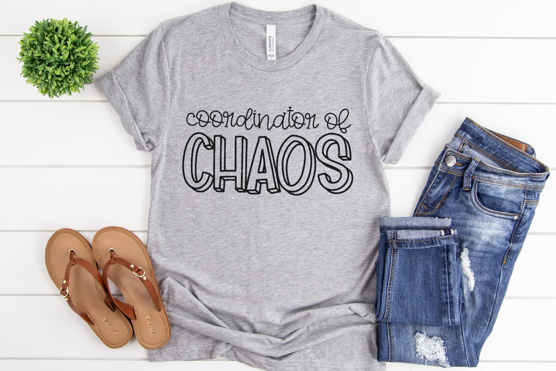Teacher - Mom - Coordinator of Chaos SVG example image 2