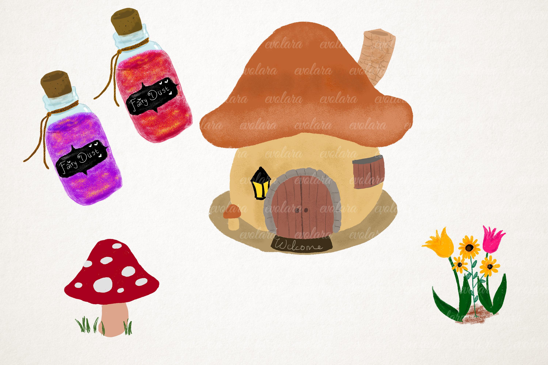 Fairy Clipart Fairies Clipart Cute Fairytale Floral Nursery example image 3