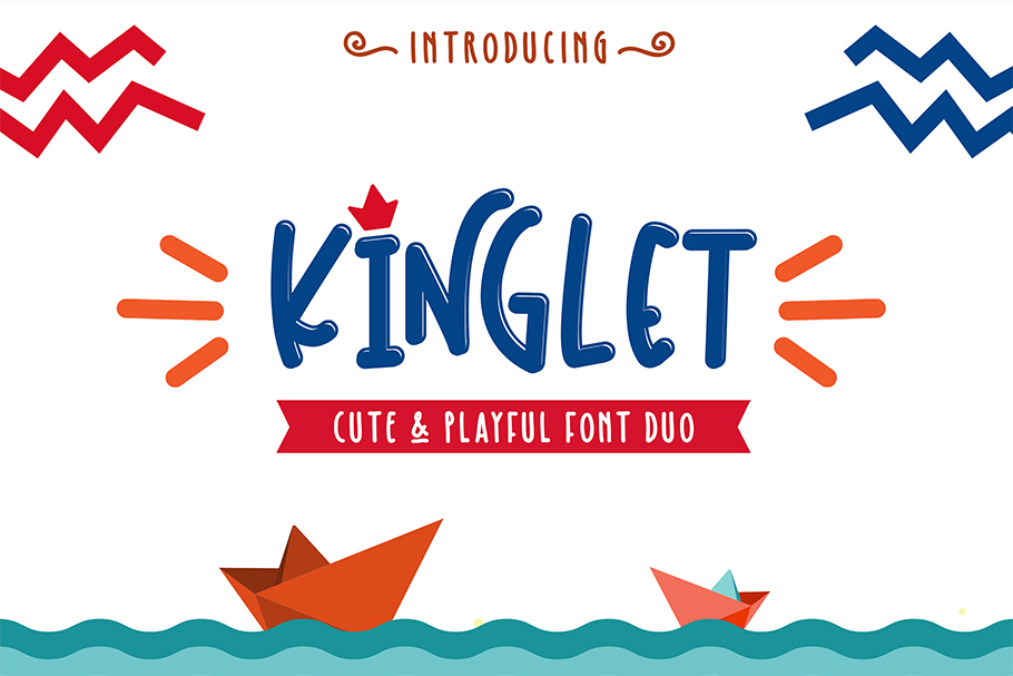 Kinglet - Cute Font Duo With Extras  example image 1