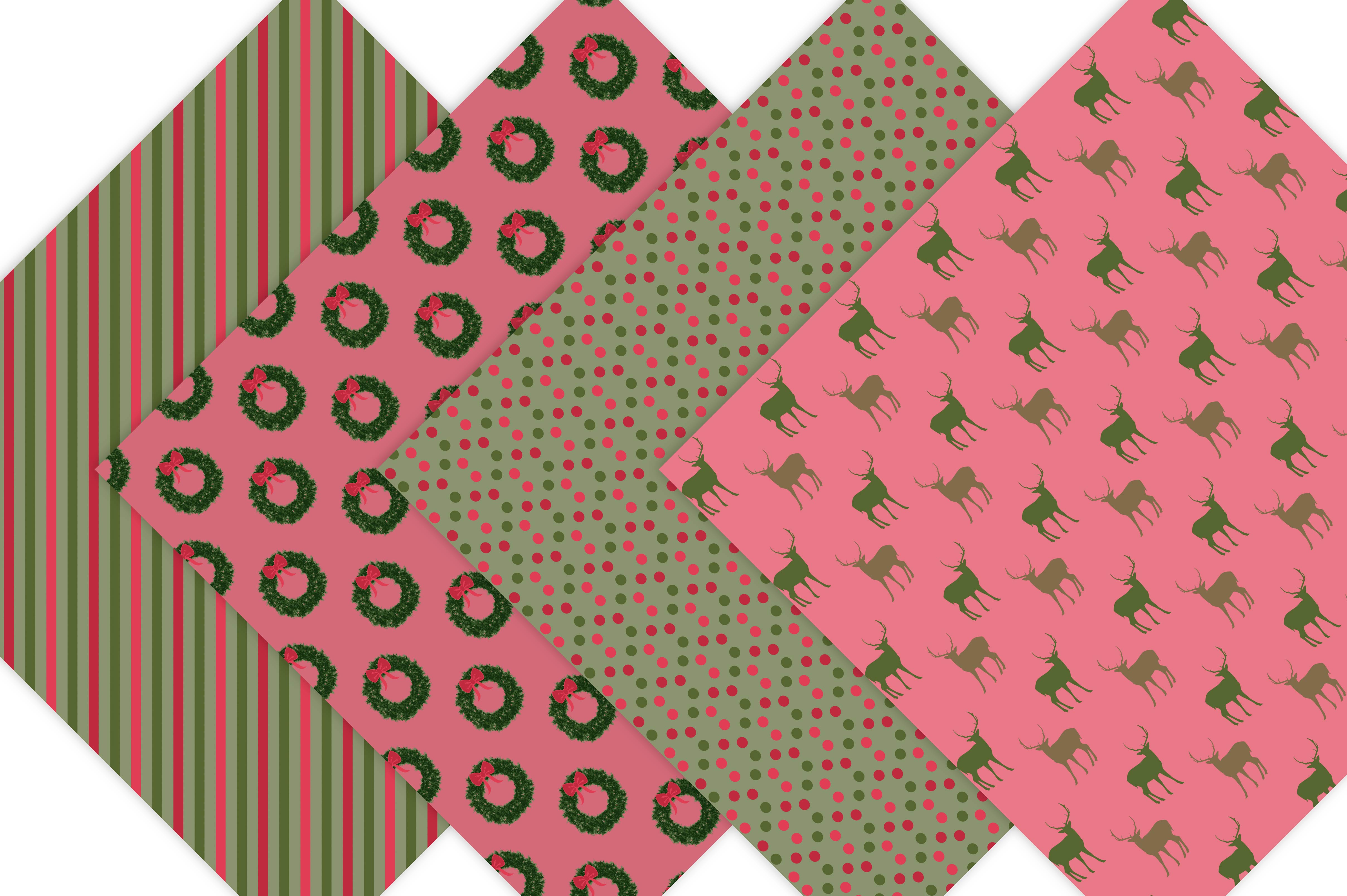Classic Christmas Digital Paper example image 5