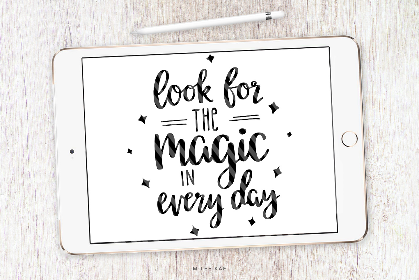Magic quote SVG, Cutting file, Decal example image 1