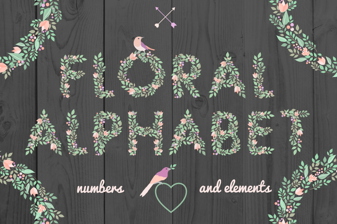 Floral Alphabet example image 1