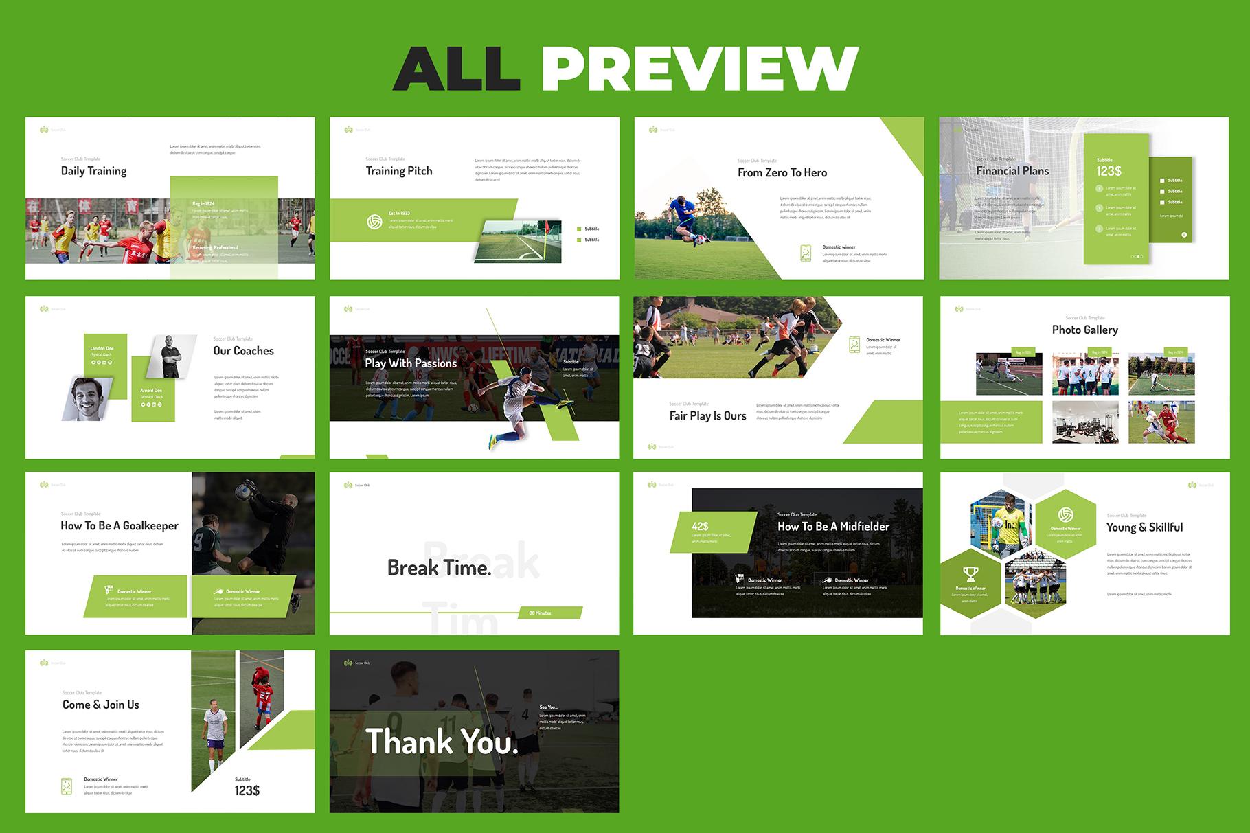 Soccer Club Keynote Presentation example image 6