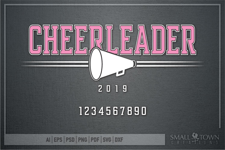Cheerleading, Cheerleader, Team, Sports, PRINT, CUT & DESIGN example image 5