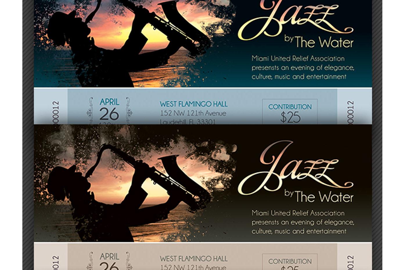 Jazz Concert Event Ticket Template example image 4