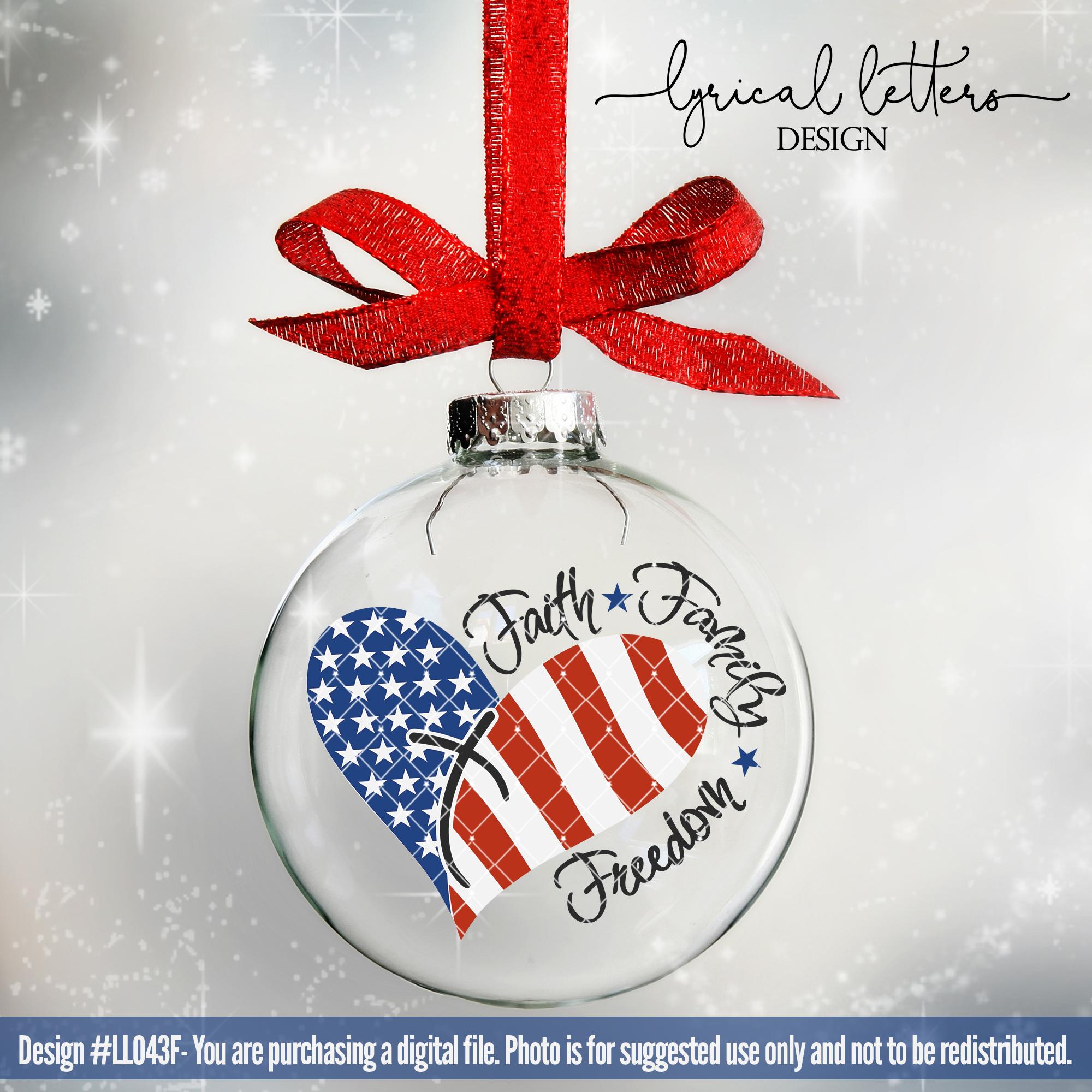 Faith Family Freedom American Patriotic USA Cut File LL043F example image 4