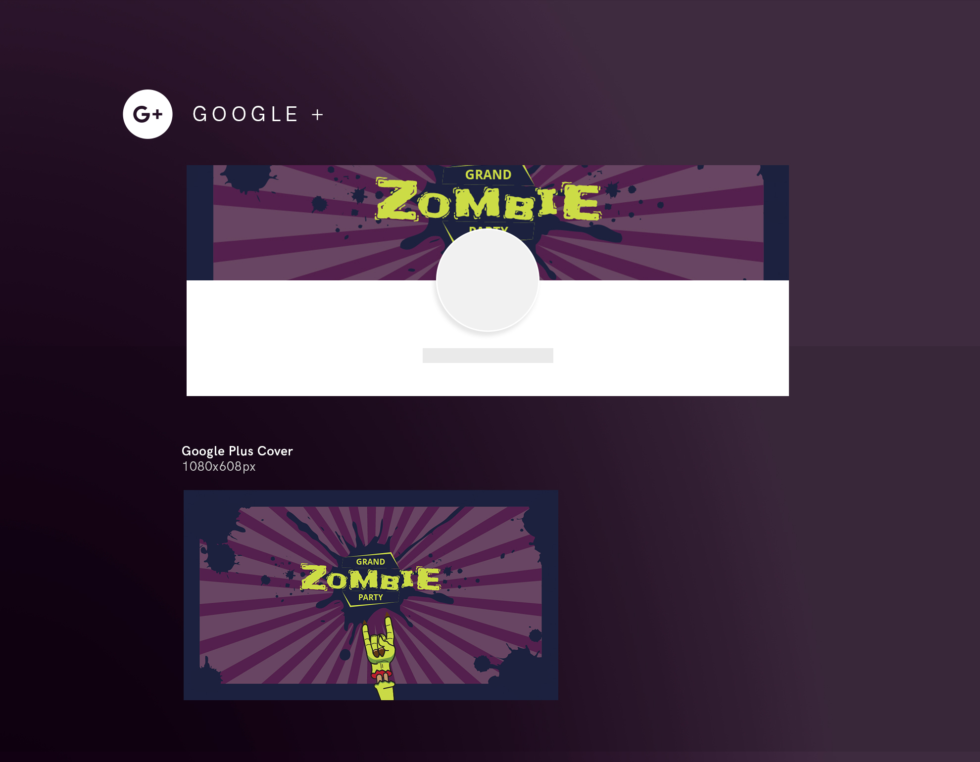 Zombie Party Design Templates Bundle example image 8