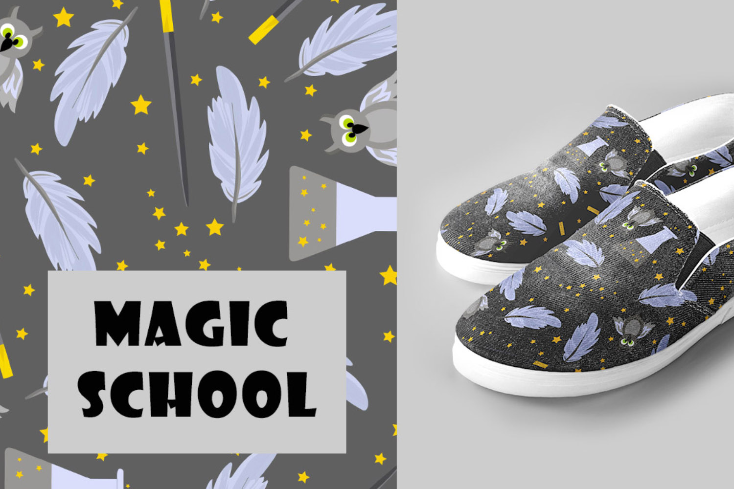 School of Magic Pattern Set Theme - Harry Potter, Hogwarts example image 3