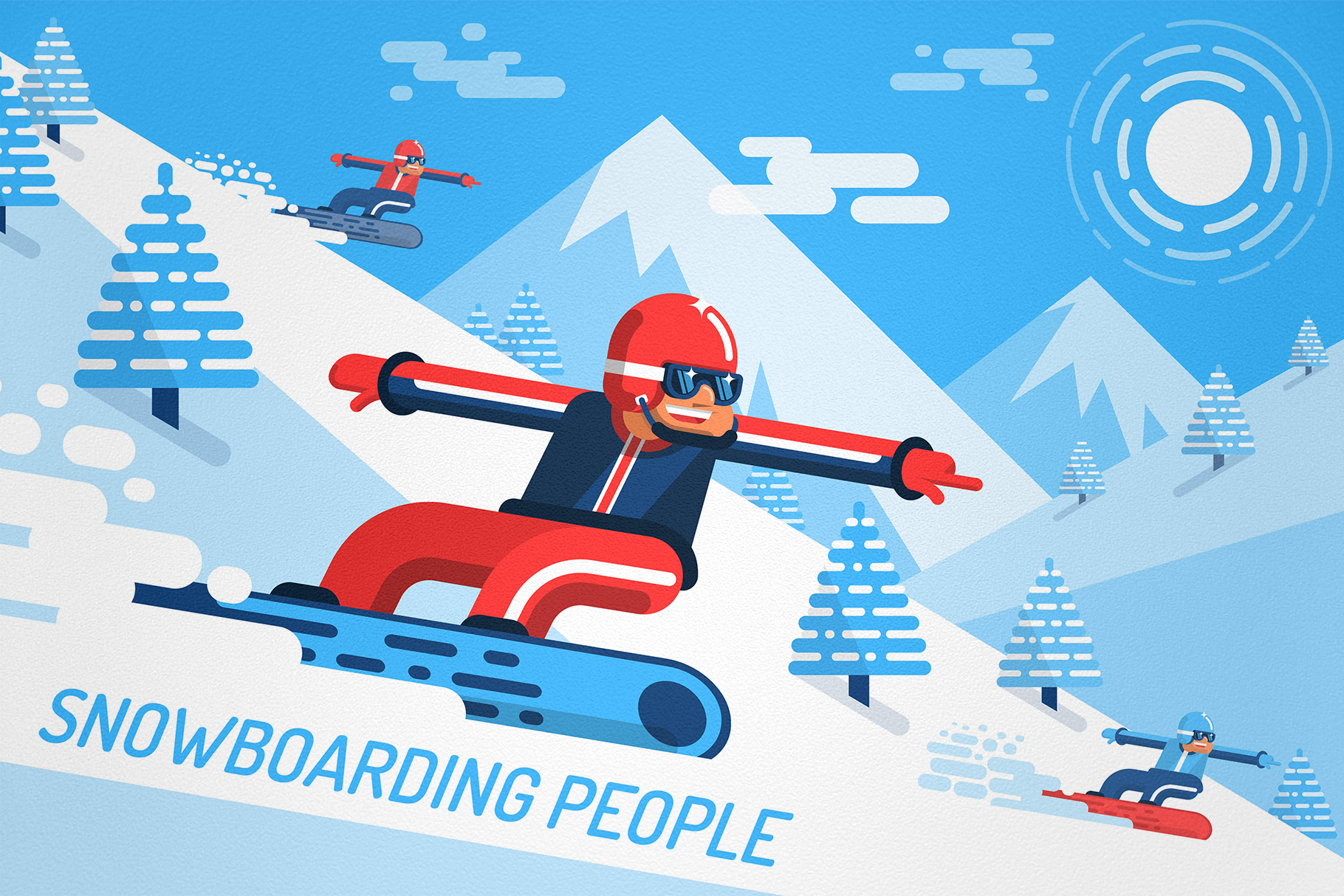 Snowboarding People example image 1