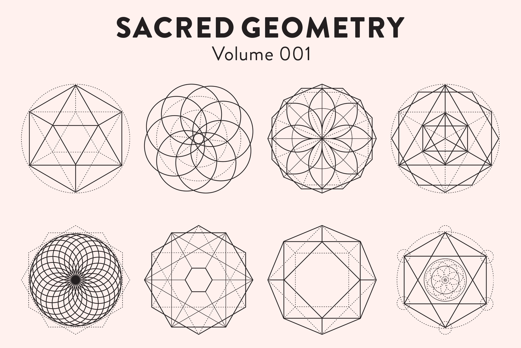 Sacred Geometry Vectors Volume 001 example image 3