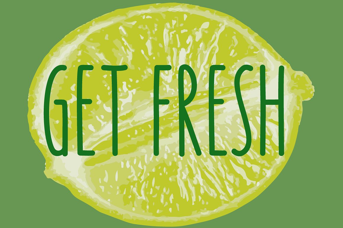 Key Lime - A fruity fresh drawn font example image 6