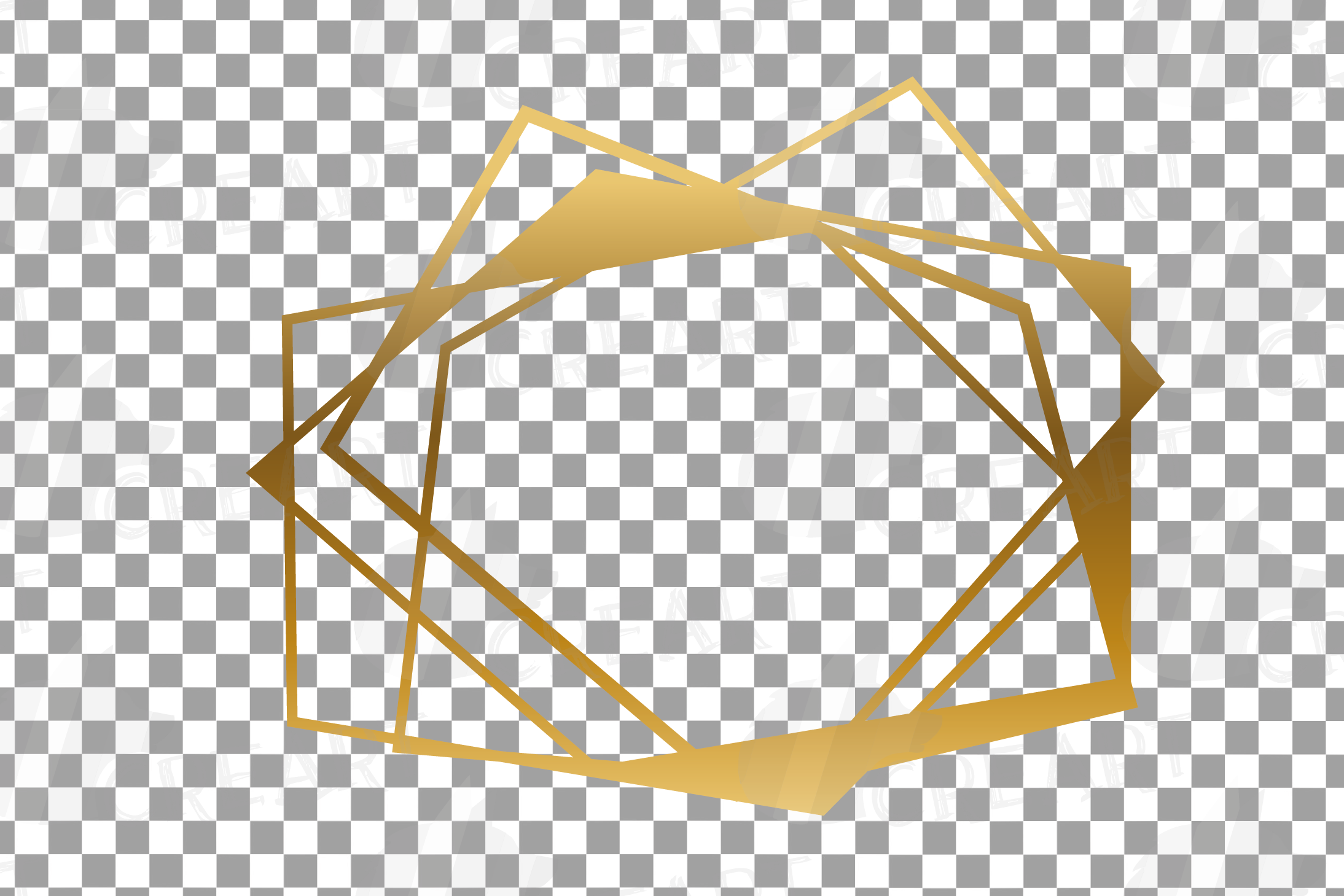 Chaotic geometric golden frames, lineal frames clip art example image 11