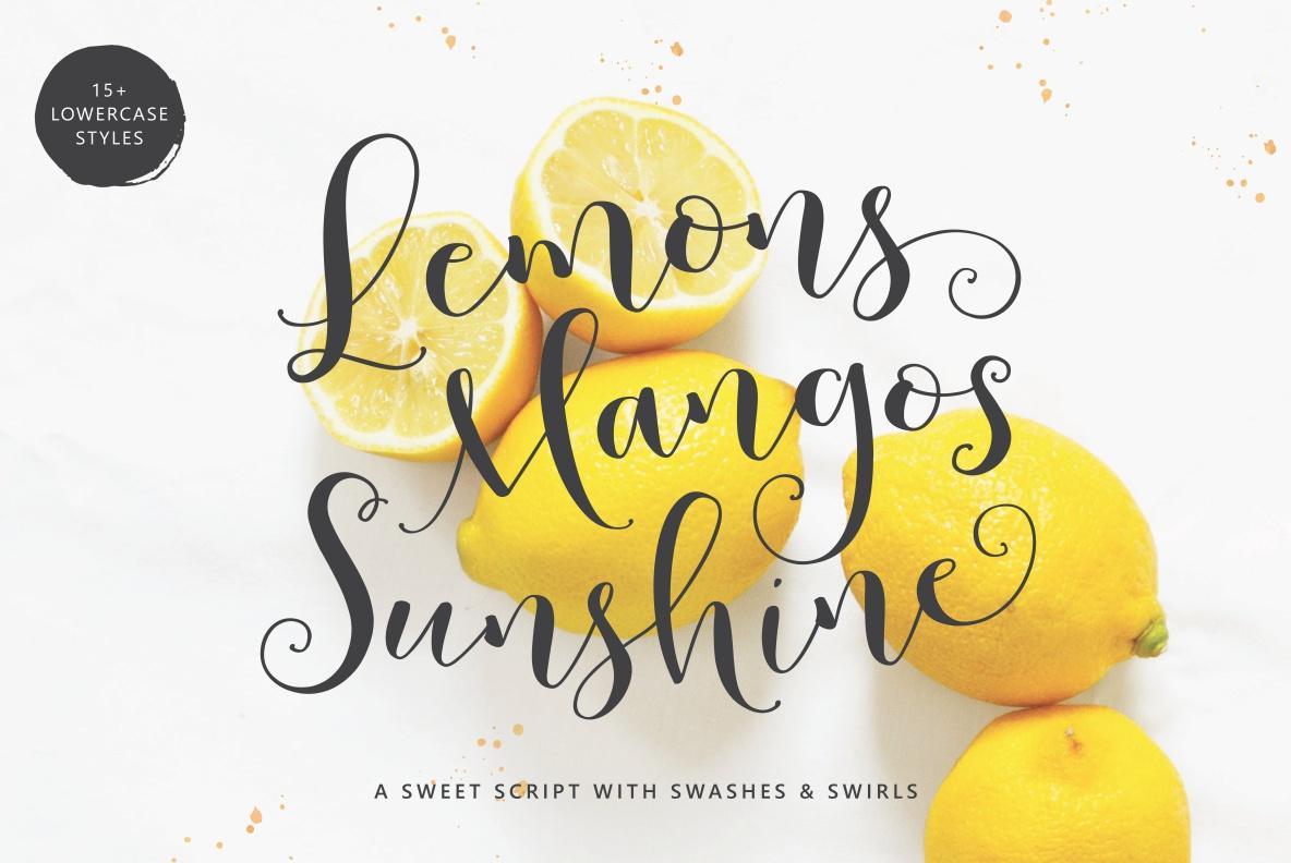Lemons Mangos Sunshine example image 1