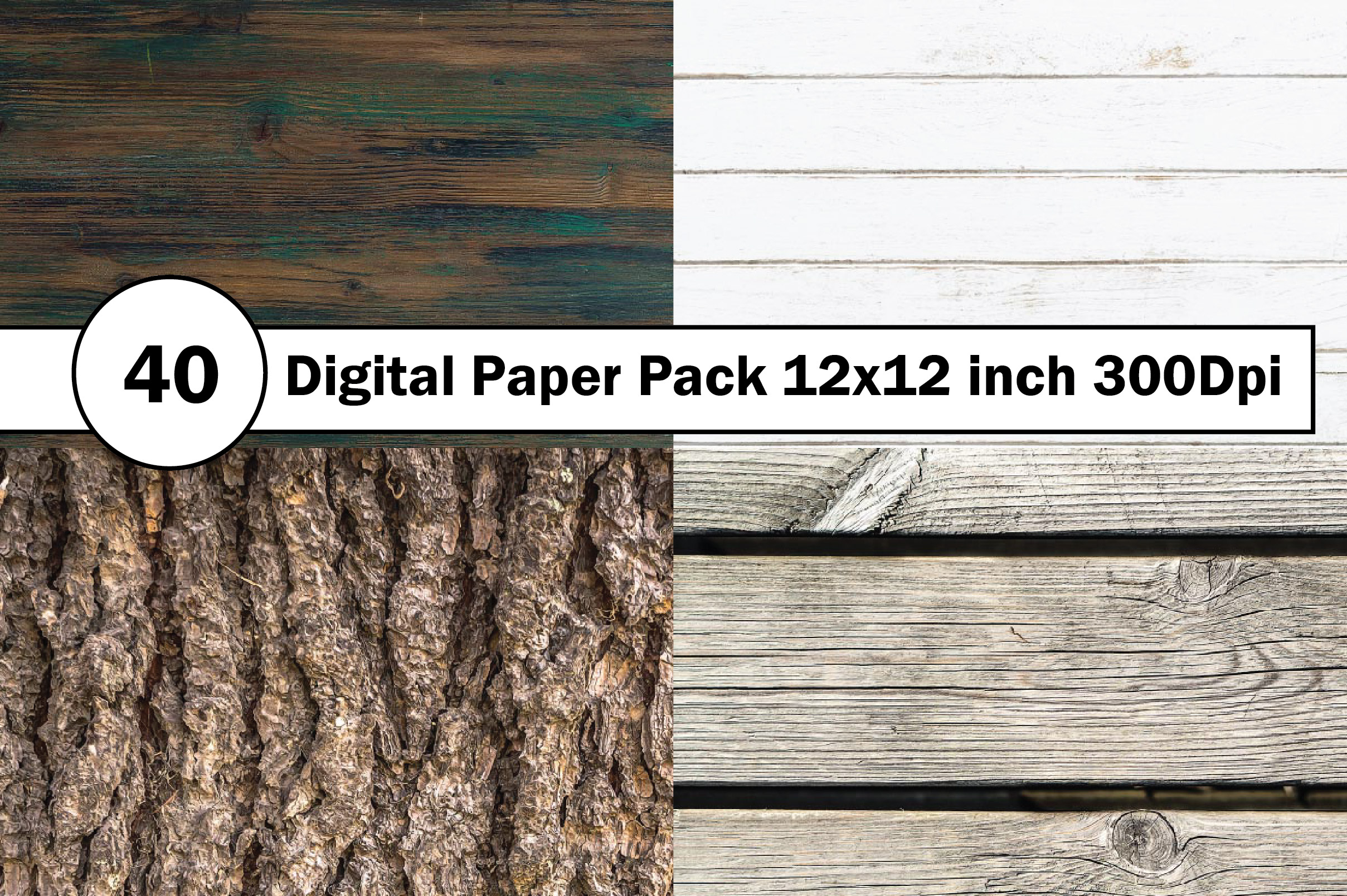40 Digital Paper Pack 12x12 inch 300 Dpi example image 6