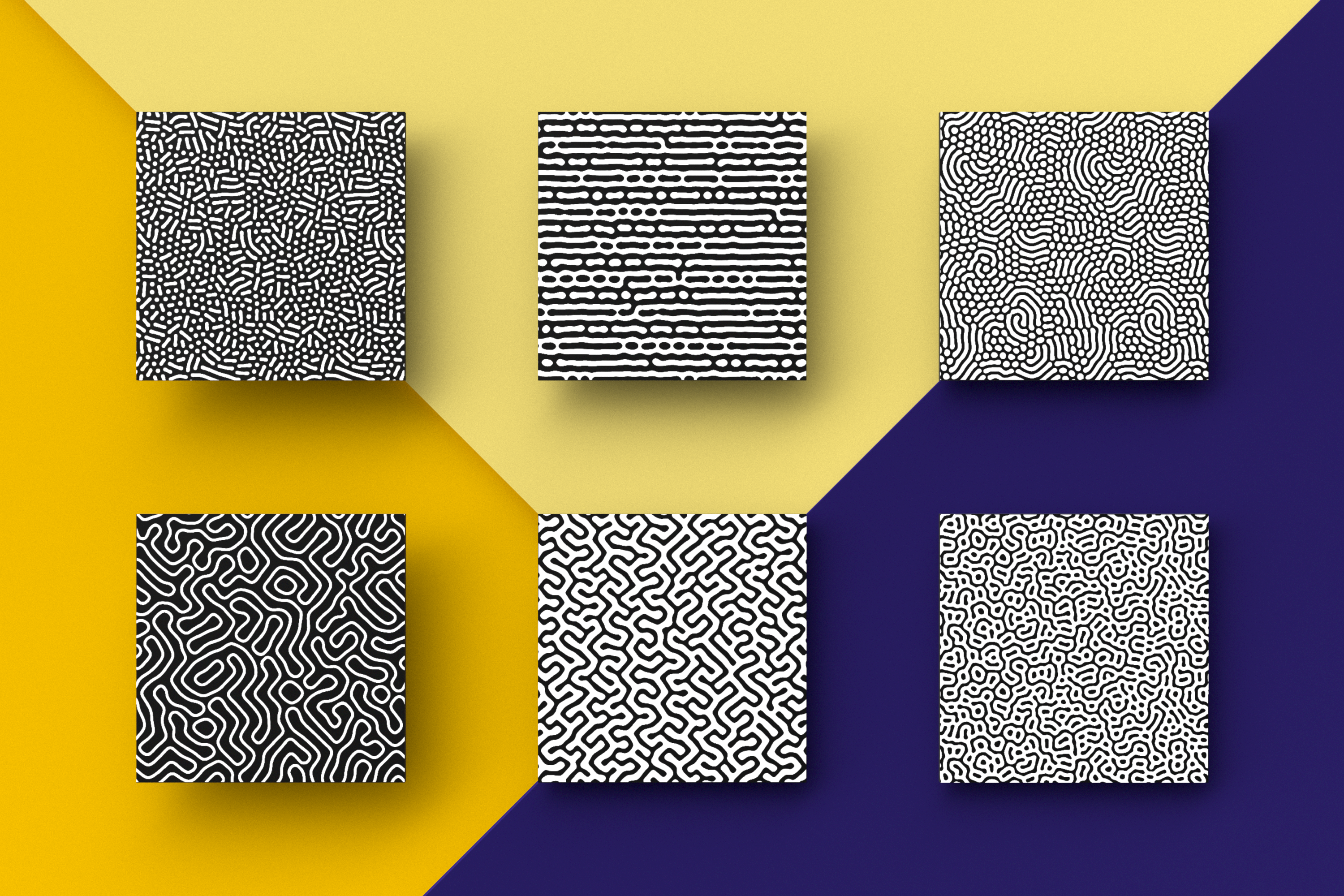 Organic Patterns - 50 trendy seamless textures example image 3