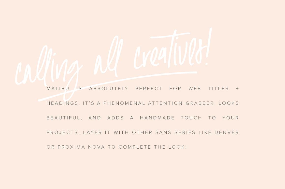 Malibu | Handwritten Font + Extras example image 7