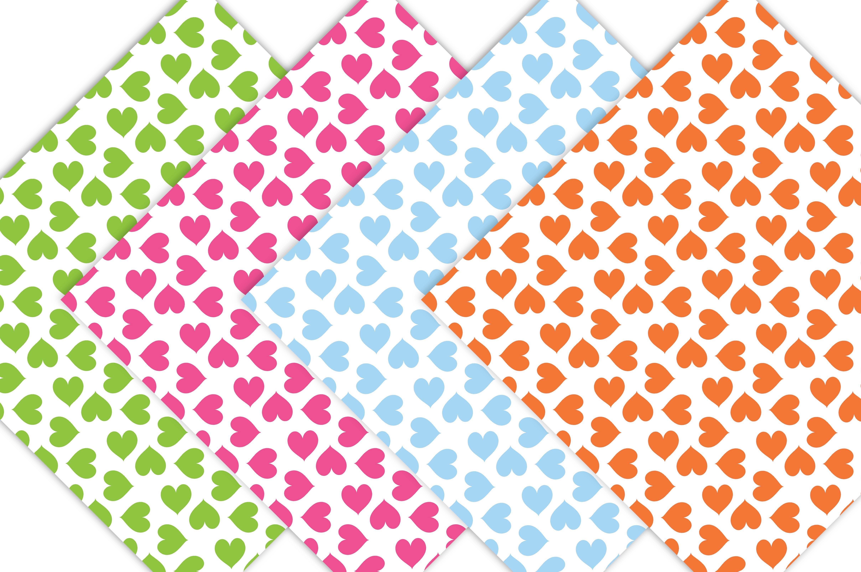Rainbow Heart Digital Paper - Heart Patterns example image 4