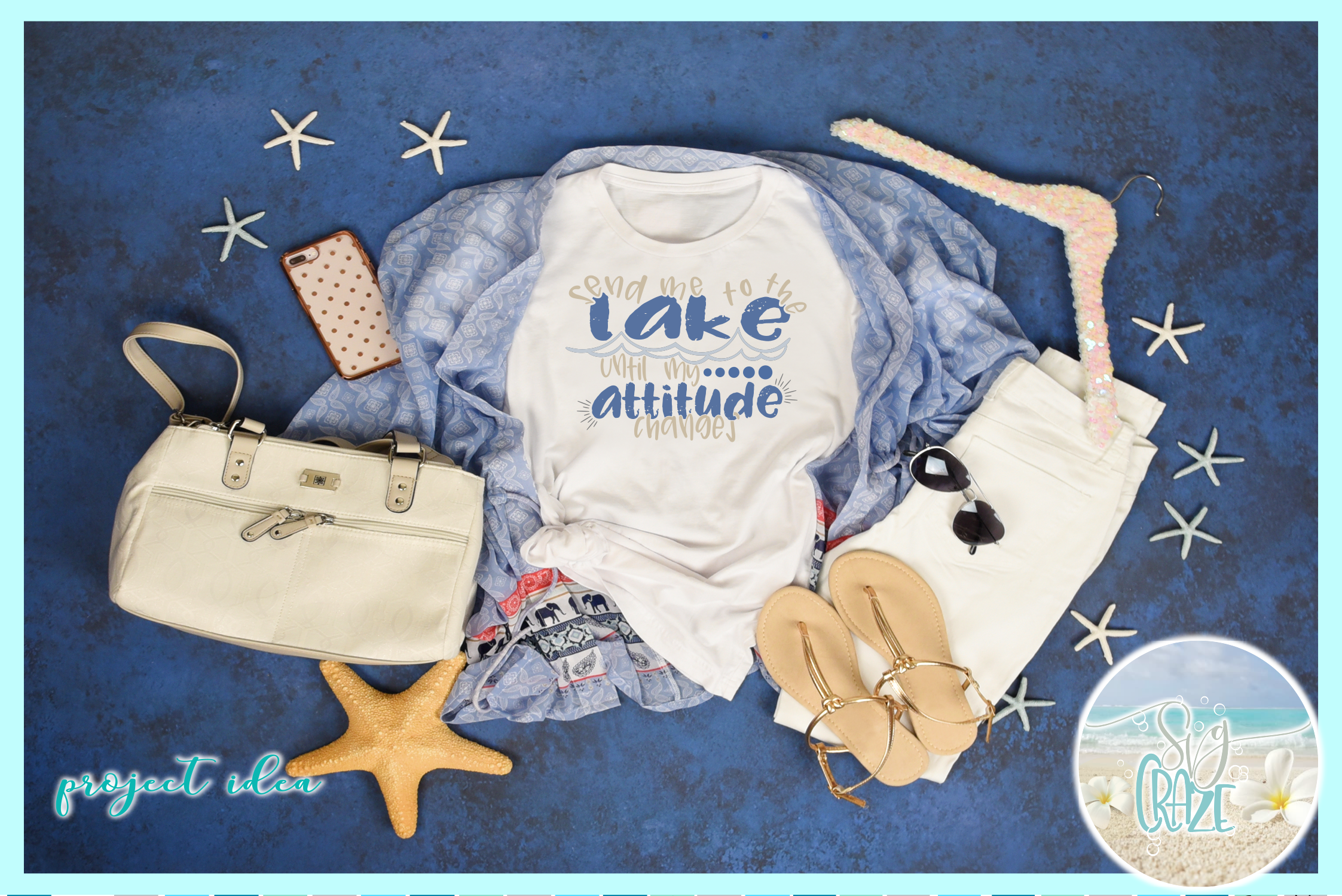 Send Me To The Lake Until My Attitude Changes Quote SVG example image 2
