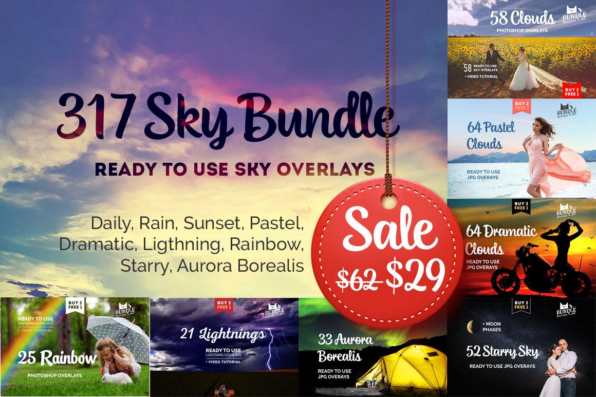 317 Sky Overlays BUNDLE example image 1