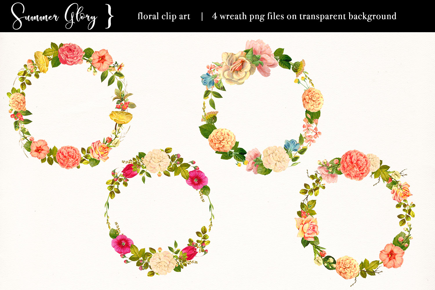 Floral Clip Art - Summer Glory example image 4