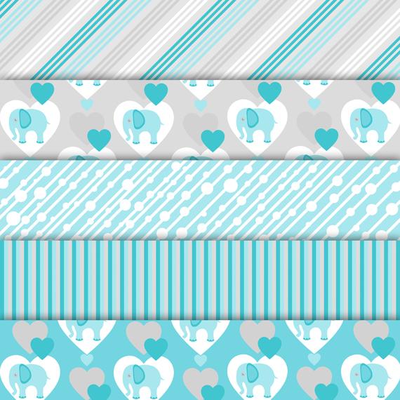 Digital paper pack Elephant example image 2
